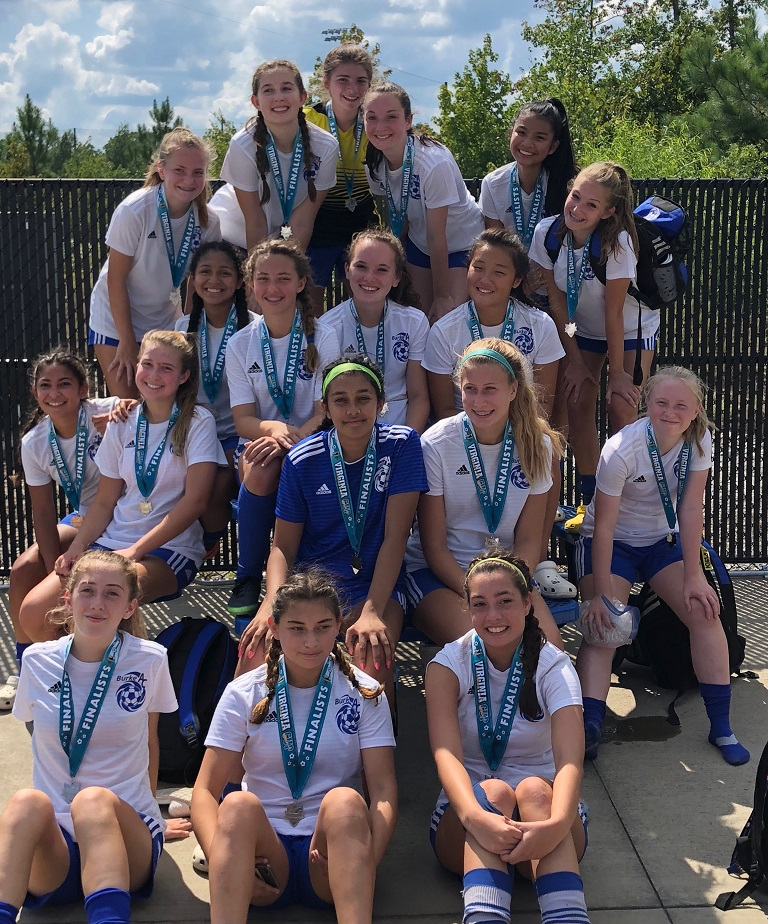 BAC Blue Star (U17G) finalists at the Virginia Cup